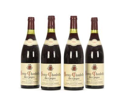 4 bouteilles GEVREY-CHAMBERTIN CLOS ST JACQUES...
