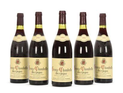 5 bouteilles GEVREY-CHAMBERTIN CLOS ST JACQUES...