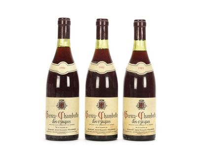 3 bouteilles GEVREY-CHAMBERTIN CLOS ST JACQUES...