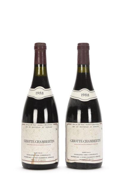 2 bouteilles GRIOTTE-CHAMBERTIN (Grand Cru)...