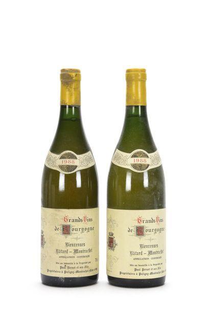 2 bouteilles BIENVENUES BÂTARD-MONTRACHET...