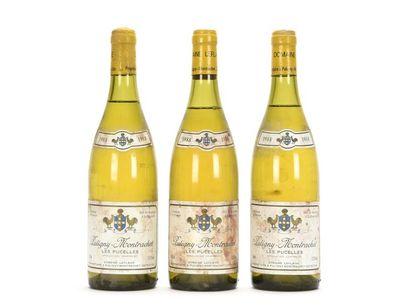 3 bouteilles PULIGNY-MONTRACHET LES PUCELLES...