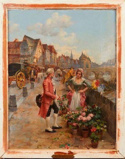 Henri Victor LESUR (1863-1900)  Fleuriste...