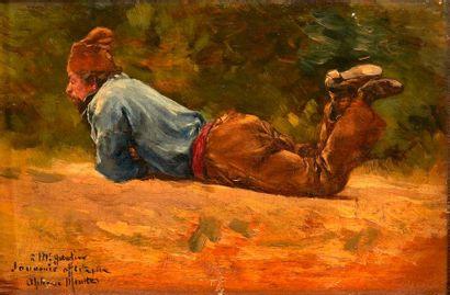 Alphonse MOUTTE (1840-1913)  Un homme à terre....