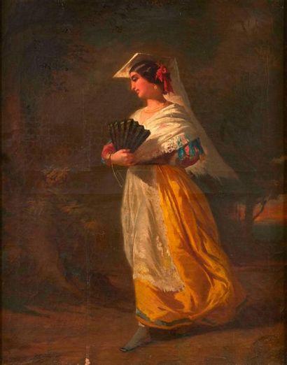 Ecole provençale du XIXème siècle.  Femme...