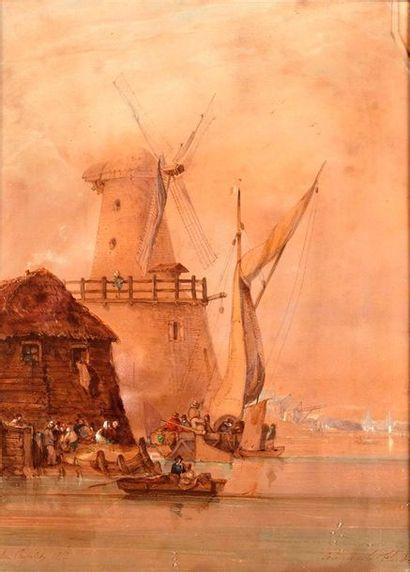 Louis Amable CRAPELET (1822-1867)  Bateaux...