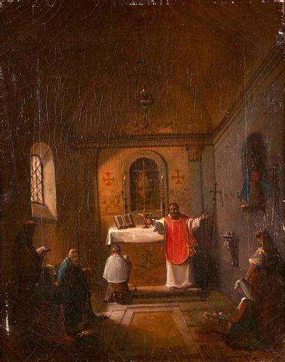 François-Marius GRANET (1775-1849)  Le baptême....