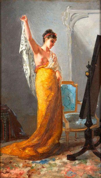 Luis Ricardo FALERO (1851-1896)  La coquette....