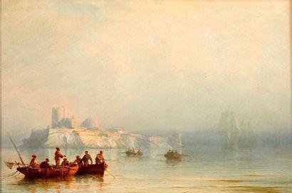 François Pierre BARRY (1813-1905)  Pêcheurs...