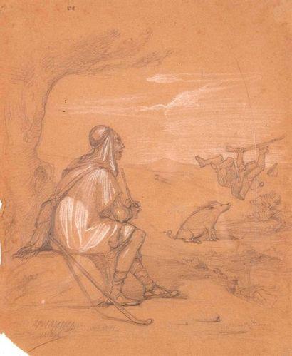 Hippolyte LAZERGES (1817-1887)  Lot de 3...