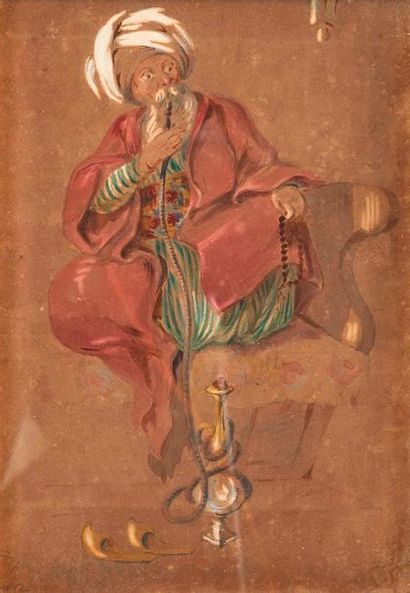 Louis Amable CRAPELET (1822-1867)  Fumeur...