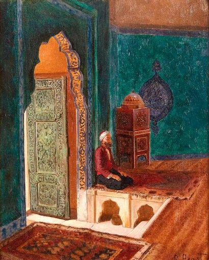 Rudolf ERNST (1854-1932)  Intérieur de mosquée...