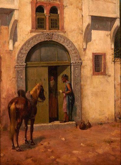 Alberto PASINI (1826-1899)  Le messager devant...