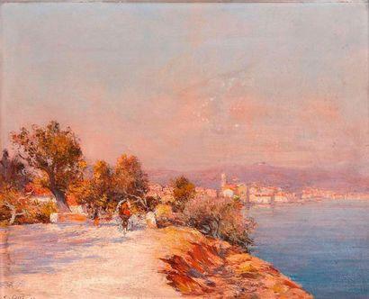 Raymond ALLEGRE (1857-1933)  Balade en bord...