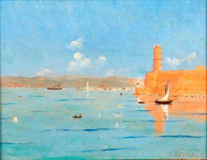 FLORENTIN (ecole provençale du XIX)  Le port...