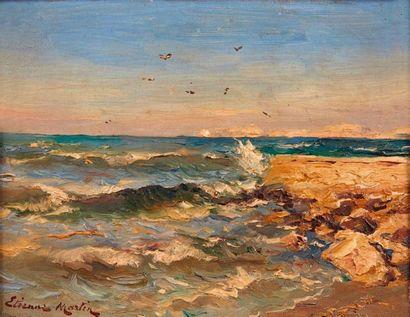 Etienne MARTIN (1856-1945)  Bord de côte....