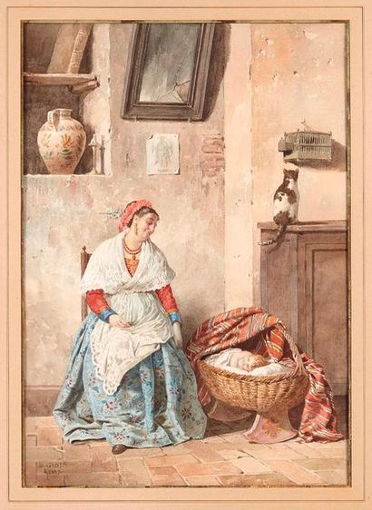 Belisario GIOJA (1829-1906)  L'amour d'une...