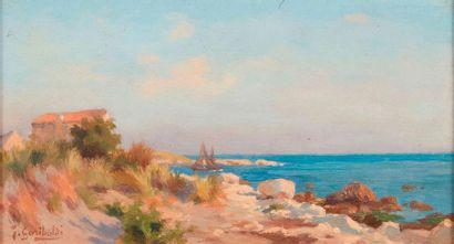 Joseph Garibaldi (1863-1941)  Bord de mer....