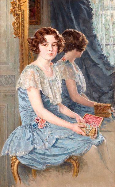 Walter MAC EWEN (1860-1943)  Jeune fille...