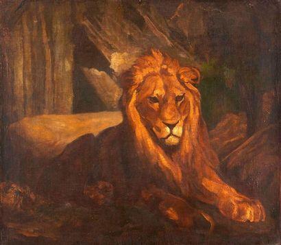 Antoine Louis BARYE (1796-1875)  Lion au...