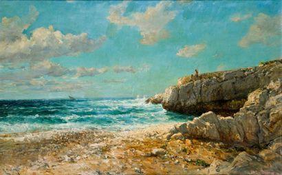 Raphaël Luc PONSON (1835-1904)  Au Bestoin,...
