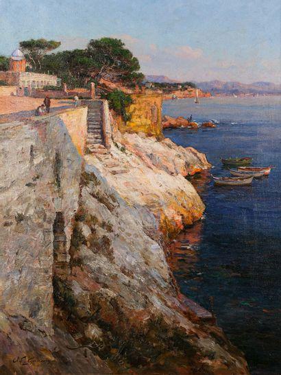 Adolphe Louis GAUSSEN (1871-1954)  La corniche...