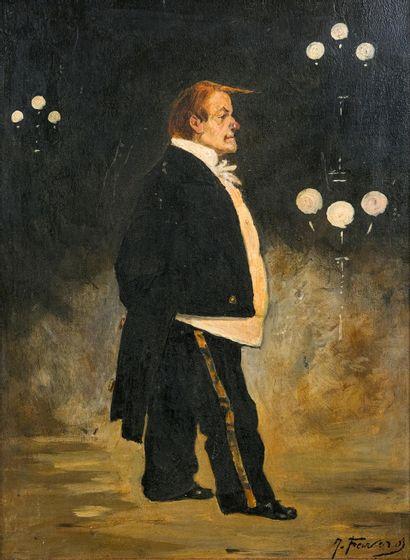 Joseph FAVEROT (1862-1915)  Le clown Bottom...