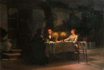 Louis MURATON (1850-1901)  Le déjeuner en...