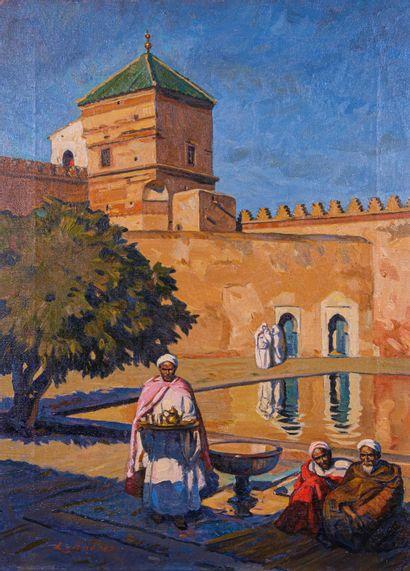 Louis John ENDRES (1896-1989)  Thé à la Mosquée...