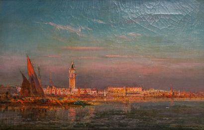 Henri DUVIEUX (c.1855-1902)  Le grand canal...