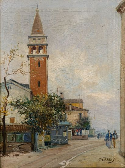Louis NATTERO (1870-1915)  L'église du village...