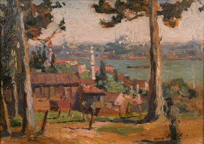 Gilbert GALLAND (1870-1956)  Constantinople...