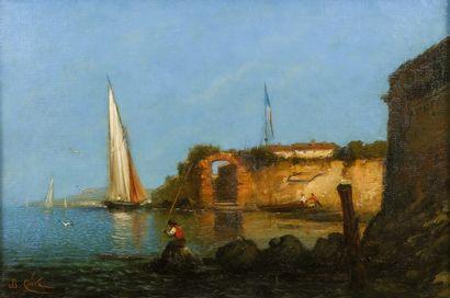 Jean-Baptiste OLIVE (1848-1936)  Pêcheurs...