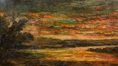 Auguste RAVIER (1814-1895)  Etang de Morestel...