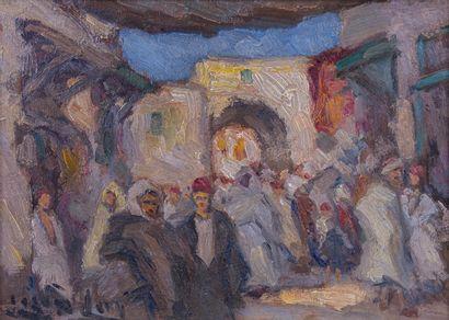 LAZARE-LÉVY (1867-1933)  Marché dans les...