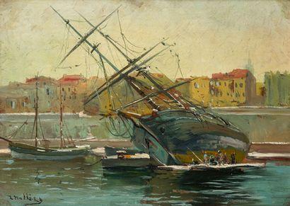 Louis NATTERO (1870-1915)  Bateaux dans le...