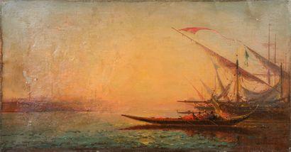 Henri DUVIEUX (c.1855-1902)  Bateau sur le...