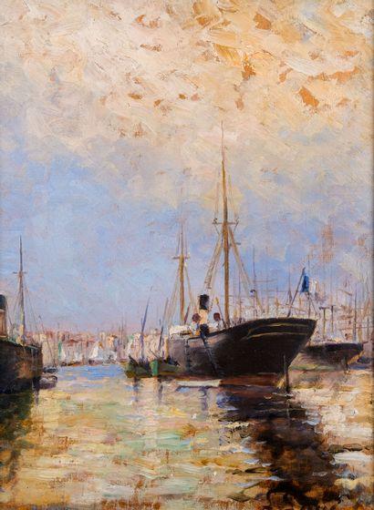Gustave LINO (1893-1961)  Bateaux dans le...