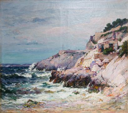Jean-Baptiste OLIVE (1848-1936)  Les rochers...
