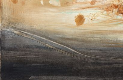 CHU TEH CHUN (1920-2014)  N° 294, composition. 1968  Huile sur toile Signée en...