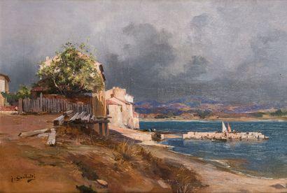 Joseph GARIBALDI (1863-1941)  Les Lecques,...