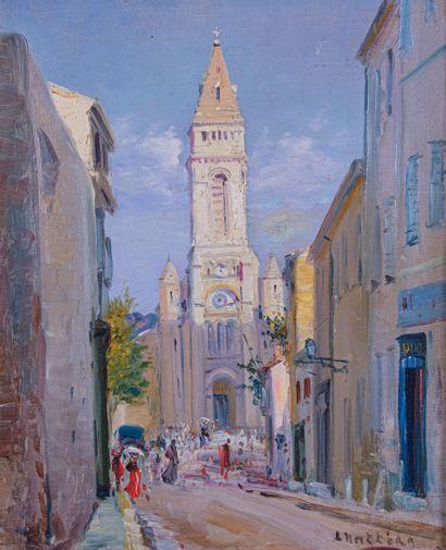 Louis NATTERO (1870-1915)  L'église de Saint...