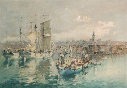 Gilbert GALLAND (1870-1956)  Vieux port de...