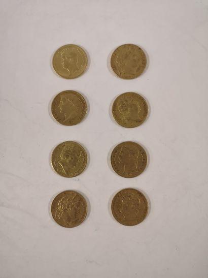 20 Franc or, 8 exemplaires (Premier Empire...