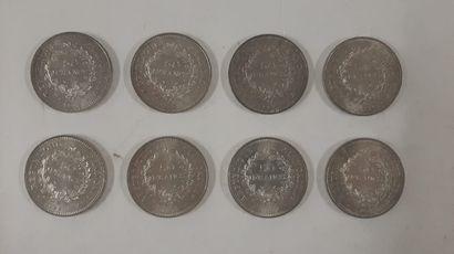 50 Francs argent, République française, 1977...