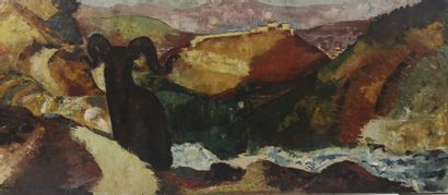 François QUELVÉE (1884-1967)  Mouflon vers...
