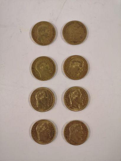 20 Francs or, 8 exemplaires (IIème République...
