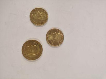 Monnaie étrangère en or, lot :  SUISSE, 20...