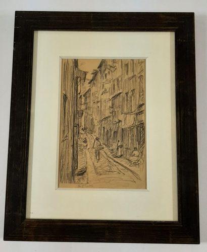 Marcel ARNAUD (1877-1956)  Ruelle dans le...