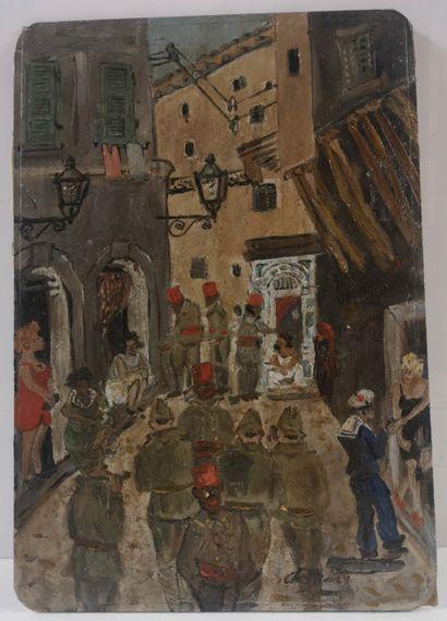 Charles BROUTY (1897-1984)  La ruelle des...